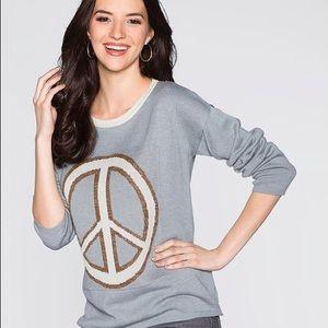 Venus gray knit sweater PEACE size XS